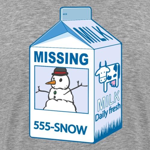 Missing : snowman - T-shirt Premium Homme