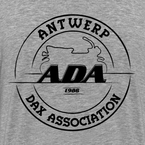 ADA DAX Logo Groot Zwart - Mannen Premium T-shirt