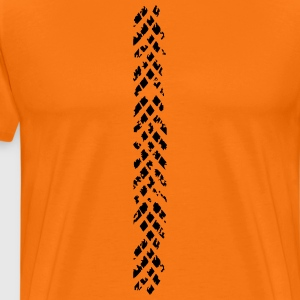 motocross tire mark - Men's Premium T-Shirt