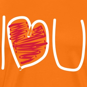 I love you - Mannen Premium T-shirt