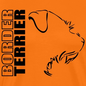 Border Terrier PROFIL WILSIGNS - Premium T-skjorte for menn