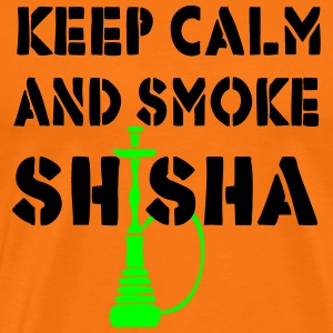 KEEP CALM AND SMOKE SHISHA - Men's Premium T-Shirt