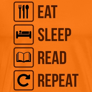 Eat Sleep Läs Repeat - Premium-T-shirt herr