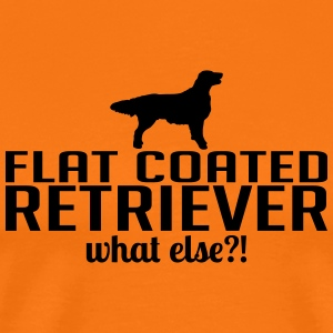 FLAT COATED RETRIEVER what else - Men's Premium T-Shirt