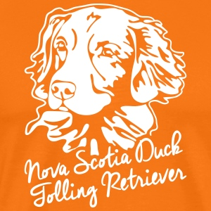 Nova Scotia Duck Tolling Retriever STÅENDE - Premium T-skjorte for menn