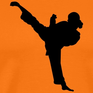 Karate fighter silhouette 5 - T-shirt Premium Homme