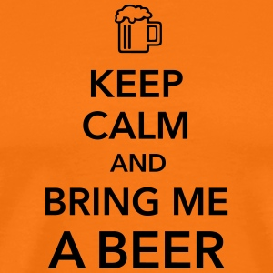Keep calm and bring me a Beer Biergarten Grillen - Männer Premium T-Shirt