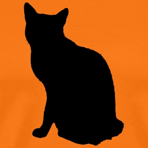 Vector Cat Silhouette - Premium T-skjorte for menn