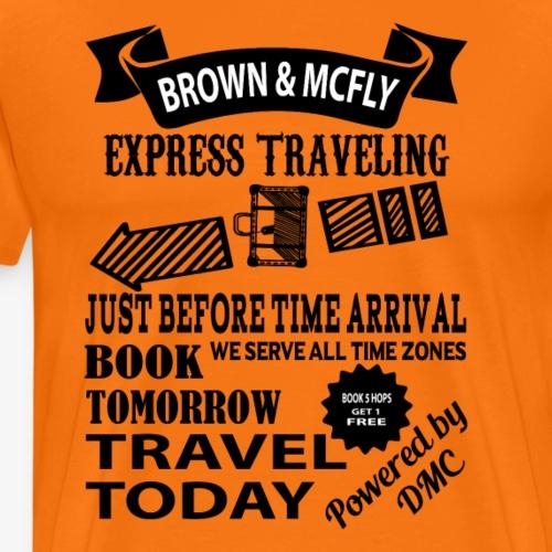 Brown & McFly express traveling - Männer Premium T-Shirt
