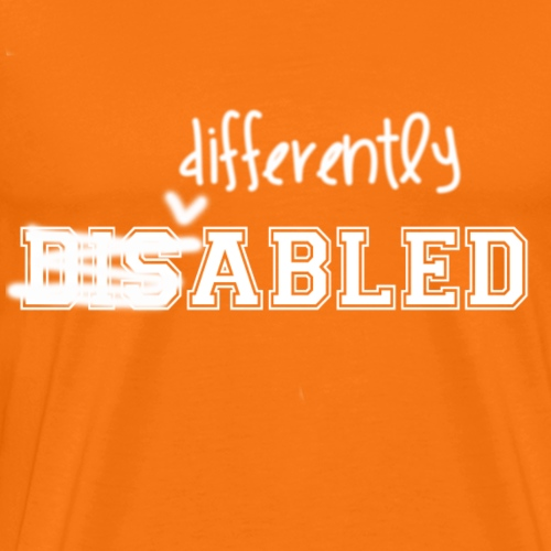 Differently Abled All White Logo - Men's Premium T-Shirt