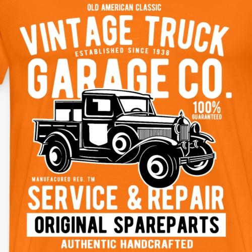 LKW TRUCK - Vintage Pick Up Truck Shirt Geschenk - Männer Premium T-Shirt
