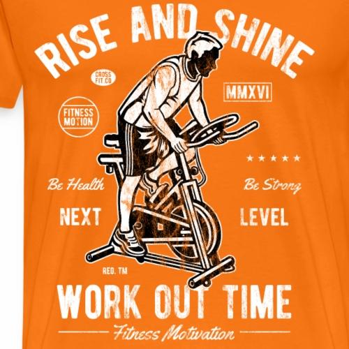 NEXT LEVEL - Sport Workout Fitness Gym Shirt - Männer Premium T-Shirt