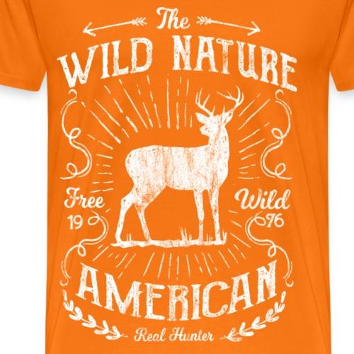 ANTLER HUNTER - Jäger Hunter Hunting Wildnis Shirt - Männer Premium T-Shirt