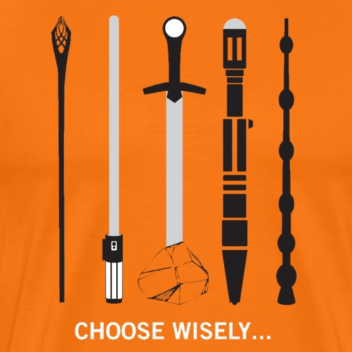 Star-Wars Weapons Meme Lord Of The Rings - Men's Premium T-Shirt