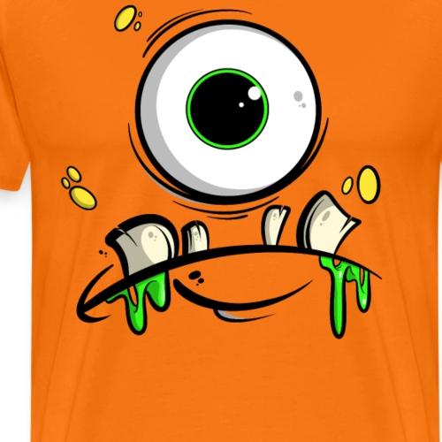 Monster Gesicht - Männer Premium T-Shirt