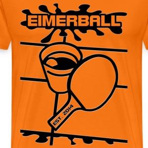 EIMERBALL Logo ALPHA schwarz splash - Männer Premium T-Shirt