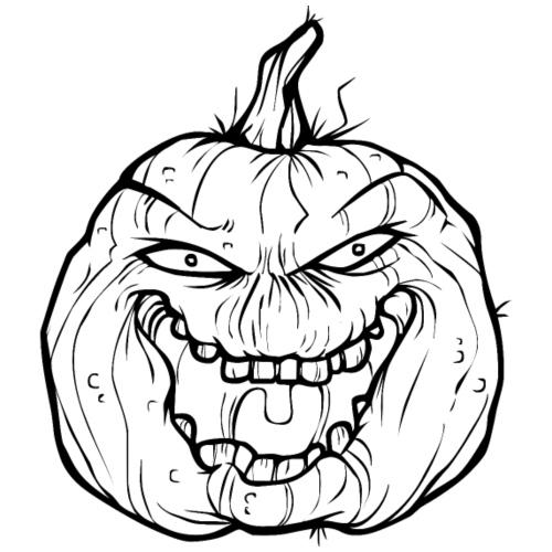 Halloween Kürbis - Der Boss - Männer Premium T-Shirt