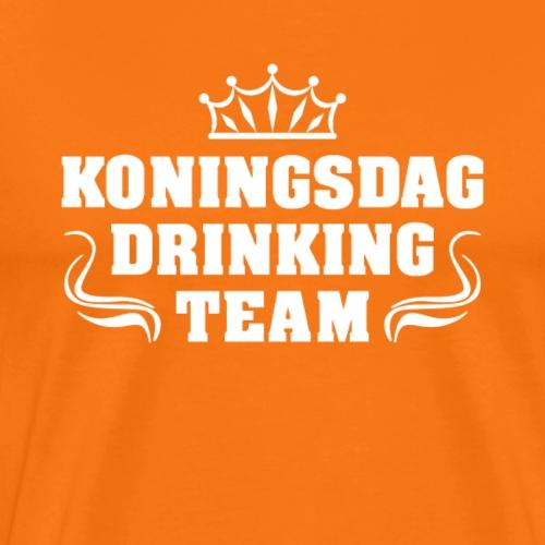 Koningsdag drinkteam | Koningsdag T-shirt - Mannen Premium T-shirt