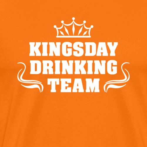 Kingsday Drinking Team | Koningsdag T-shirt - Mannen Premium T-shirt