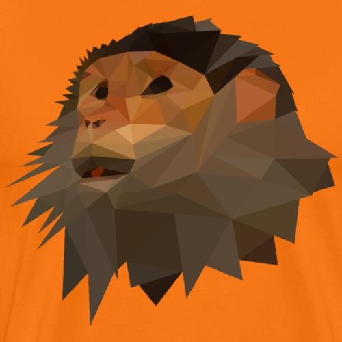 Geometric Triangle Monkey - Men's Premium T-Shirt