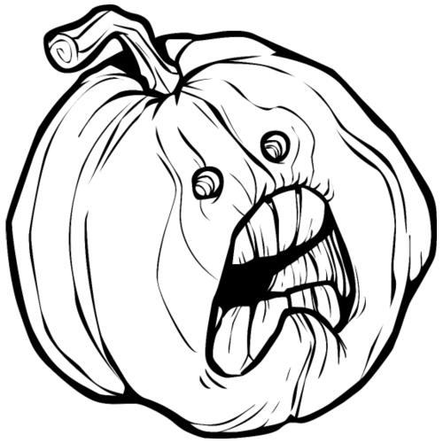Halloween Kürbis - Der Terror - Männer Premium T-Shirt