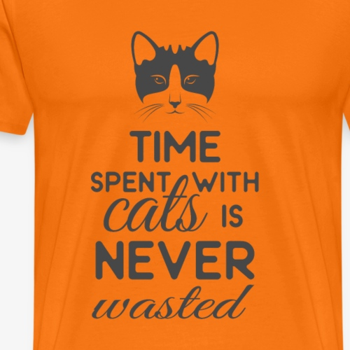 Time spend with cats Monochrome - Men's Premium T-Shirt