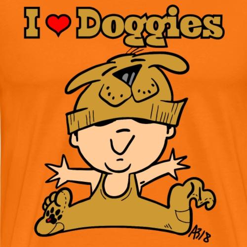 baby i love doggies color - Mannen Premium T-shirt