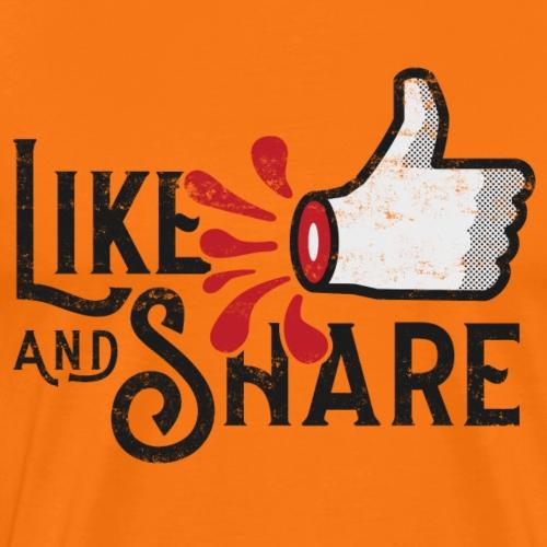Like and share - Premium-T-shirt herr