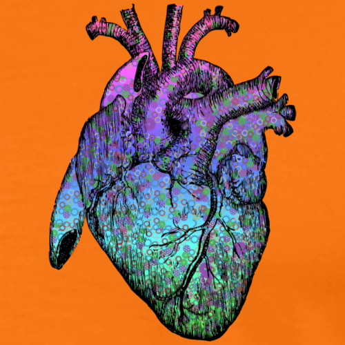 metallic heart - Men's Premium T-Shirt