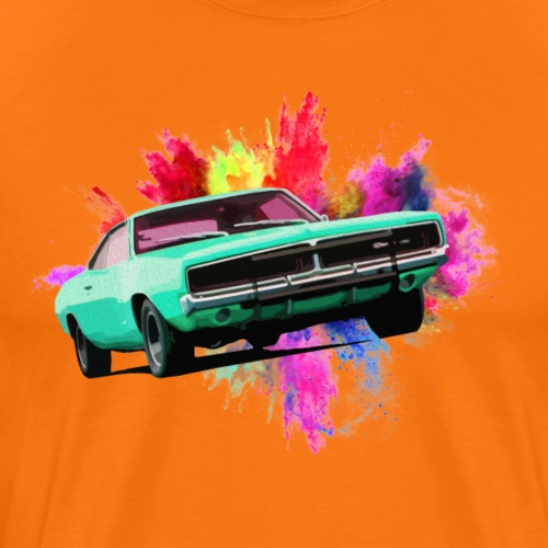 Charger Colour Explosion - Men's Premium T-Shirt