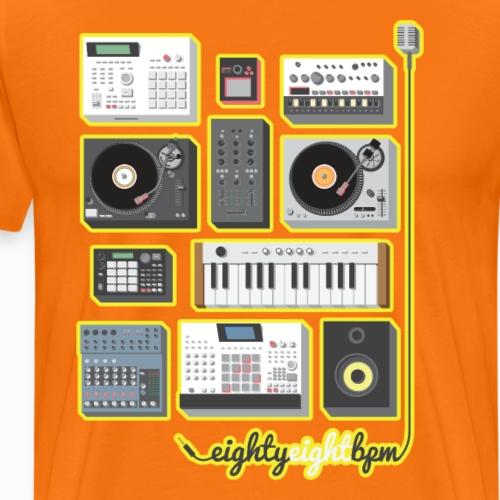 88 BPM Full Set (yellow/orange) - Men's Premium T-Shirt