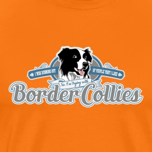 Trying with Border Collies - Men's Premium T-Shirt