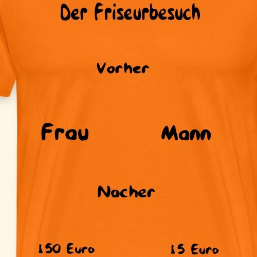friseurbesuch, friseur, schrift - Männer Premium T-Shirt
