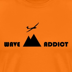 Wave narkoman sort - Herre premium T-shirt