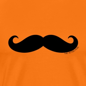Manly Man Moustache - Premium T-skjorte for menn