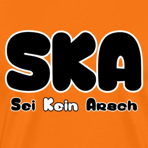 SKA sei kein arsch - Männer Premium T-Shirt