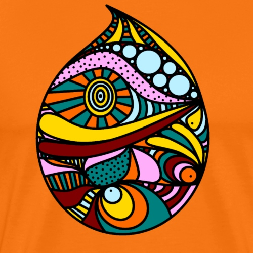 bunter Tropfen - Männer Premium T-Shirt