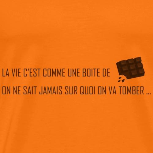 La vie c'est comme une boite de chocolat - T-shirt Premium Homme