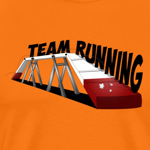 team Running blanc Rouge - T-shirt Premium Homme