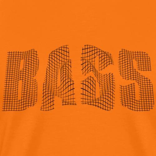 Bass Text schwarz - Männer Premium T-Shirt