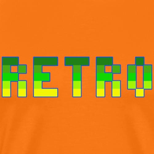 Retro Schriftzug Grün Gelb Blau - Männer Premium T-Shirt
