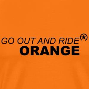 jeździć pomarańczowo - Koszulka męska Premium