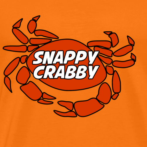Snappy Crabby - Orange - Men's Premium T-Shirt