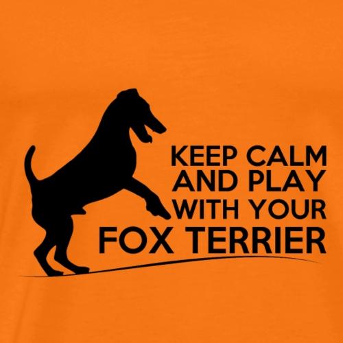 FOX KEEP CALM BLACK - T-shirt Premium Homme