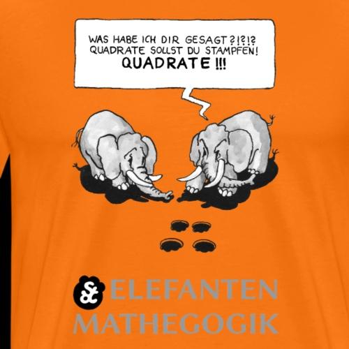 ELEFANTENMATHEGOGIK (1) : QUADRATOSTAMPF (1) [GS] - Männer Premium T-Shirt
