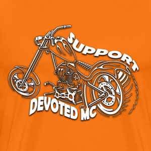 T-Shirt DEVOTEDMC SUPPORT CHOPPER - Premium T-skjorte for menn