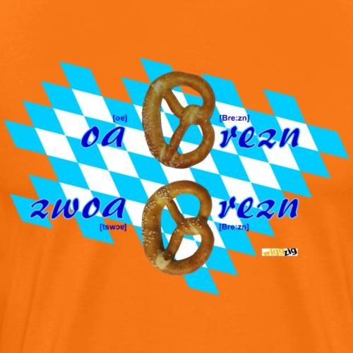 Brezn, Brezel, Pretzel - Männer Premium T-Shirt