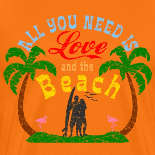 All you need is Love and Beach Logo - Männer Premium T-Shirt
