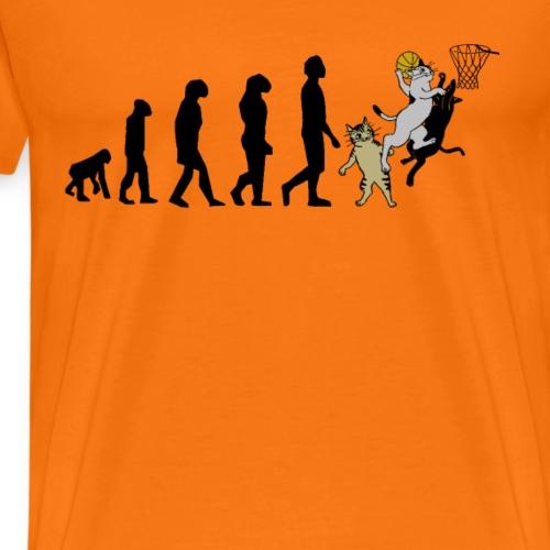 basketball Katze evolution - Männer Premium T-Shirt