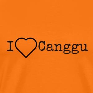 I love Canggu (Bali) für Surfer und Surfergirls - Männer Premium T-Shirt